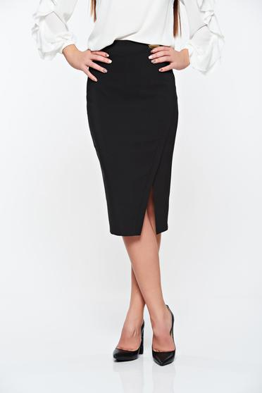 Fekete LaDonna irodai szoknya rugalmatlan szövet belső béléssel