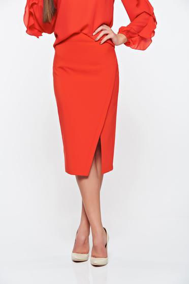 Piros LaDonna irodai szoknya rugalmatlan szövet belső béléssel