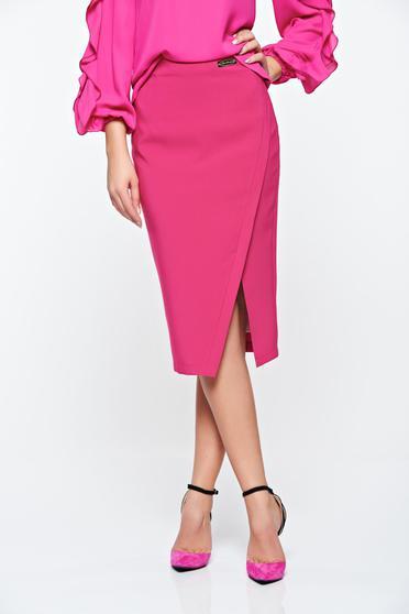 Pink LaDonna irodai szoknya rugalmatlan szövet belső béléssel