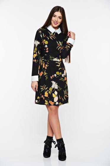 Fekete PrettyGirl hétköznapi ruha lenge anyagból belső béléssel