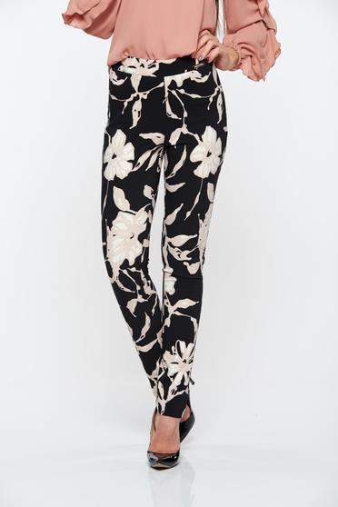 Fekete PrettyGirl kónikus nadrág rugalmas anyagbol