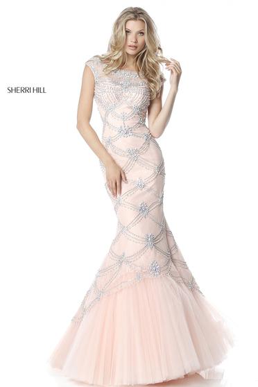 Rózsaszínű Sherri Hill 51593 Ruha