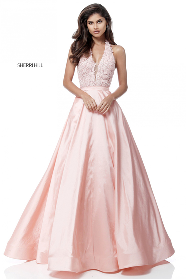 Rózsaszínű Sherri Hill 51643 Ruha