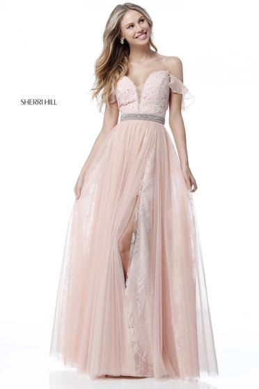 Rózsaszínű Sherri Hill 51656 Ruha