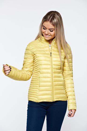 Sárga Top Secret dzseki casual vízhatlan zsebes