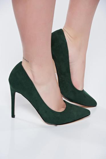 Top Secret kaki magassarkú cipő enyhén hegyes orral