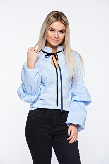 Világoskék Artista női ing casual pamutból készült