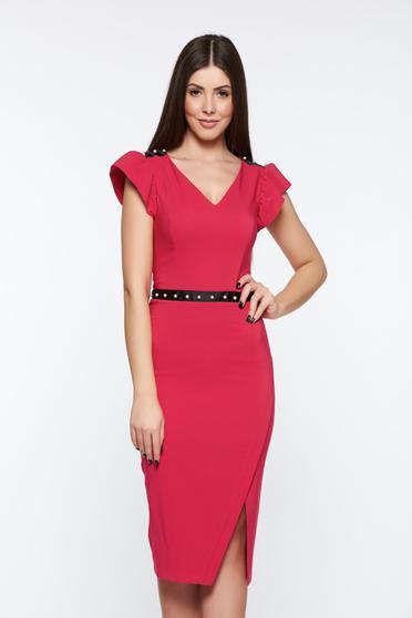 Pink LaDonna elegáns ceruza ruha belső béléssel gyöngy díszítéssel