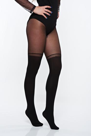 Fekete női harisnyanadrág rugalmas anyag derékban rugalmas