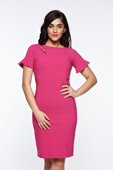 Pink LaDonna elegáns ruha kézzel varrott díszítésekk belső béléssel