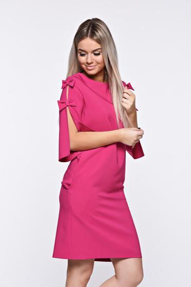 Pink LaDonna elegáns bő szabás ruha kivágott ujjrész