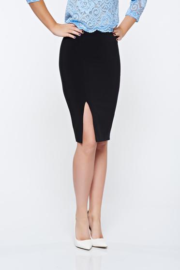 Fekete LaDonna irodai szoknya belső béléssel enyhén elasztikus szövet
