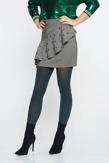 Szürke LaDonna fodros casual szoknya enyhén elasztikus szövetből