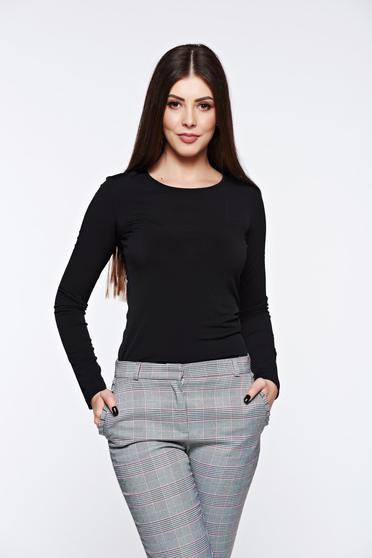 Fekete LaDonna szűk szabás női blúz enyhén rugalmas anyag