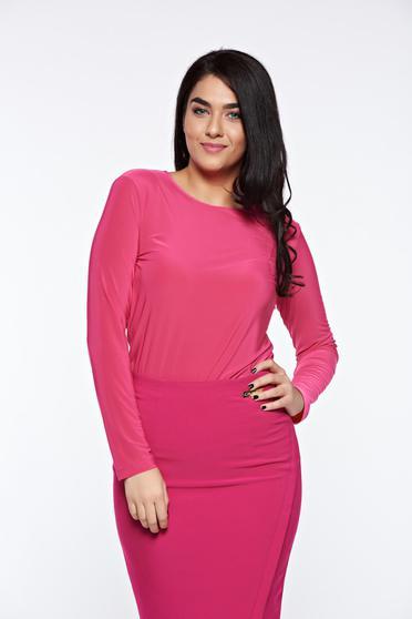 Pink LaDonna szűk szabás női blúz enyhén rugalmas anyag