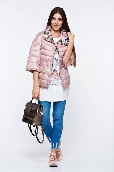 Rózsaszínű hétköznapi kétoldalú dzseki vízhatlan zsebes