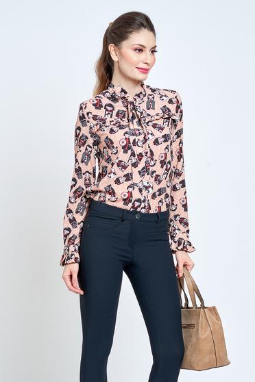 Barackvirágszínű PrettyGirl bő szabásu irodai női ing lenge anyagból