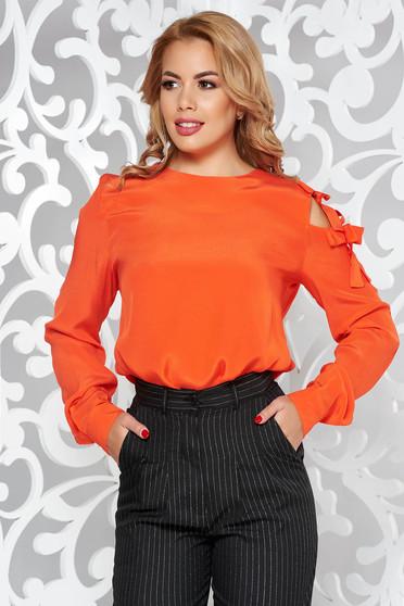 Narancs PrettyGirl női blúz elegáns bő szabású lenge anyagból
