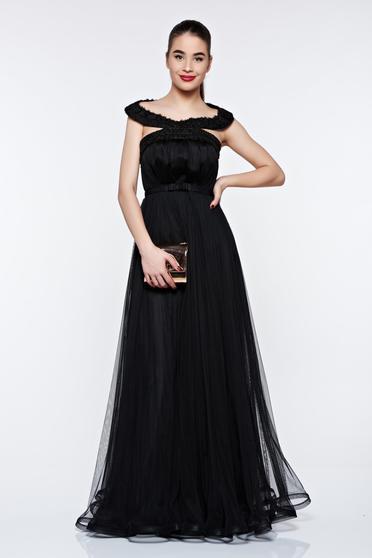Fekete Ana Radu ruha belső béléssel tüll fűzős