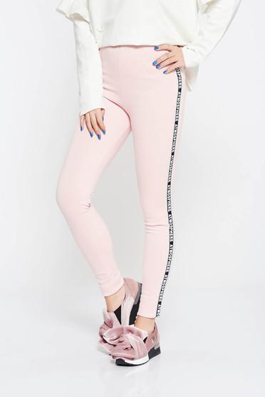 Rózsaszínű jégernadrág derékban rugalmas puha anyag casual