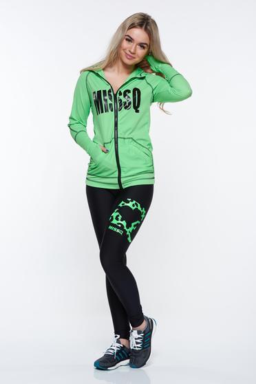 Zöld MissQ sportos zsebes szett rugalmas anyag