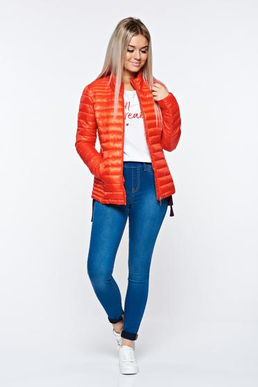 Piros Top Secret dzseki casual vízhatlan zsebes