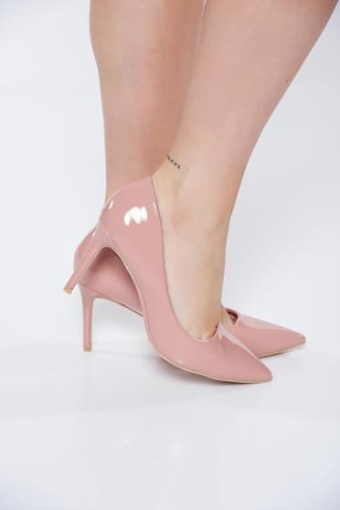 Pink stiletto elegáns cipő műbőr