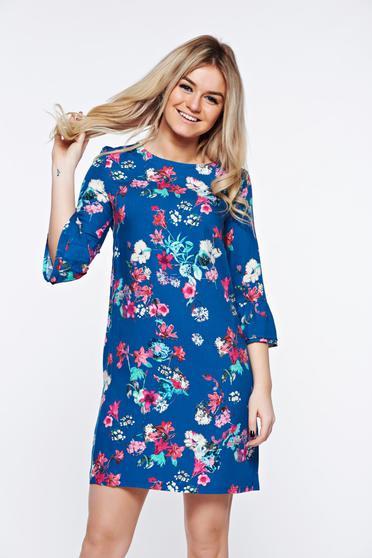 Kék Top Secret hétköznapi bő szabású ruha finom tapintású anyag