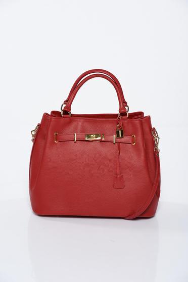 Piros irodai táska bőr