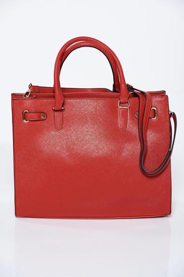 Piros irodai táska műbőr