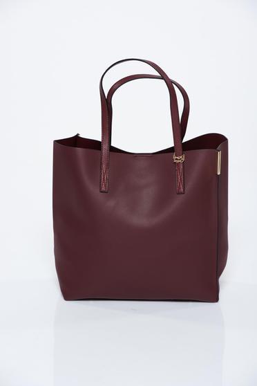 Burgundy táska casual műbőr