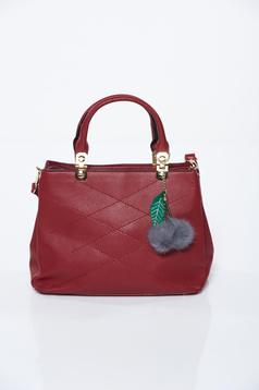 Burgundy irodai műbőr táska