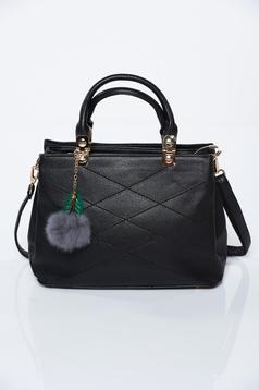 Fekete irodai műbőr táska
