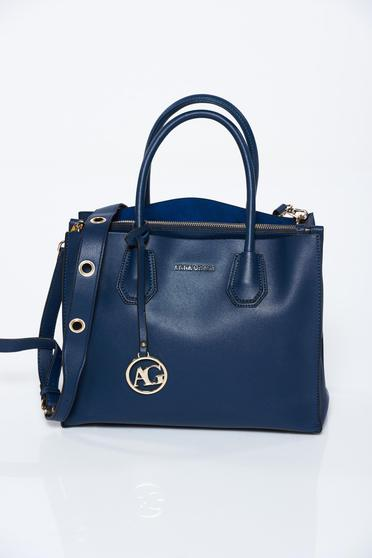 Kék irodai műbőr táska