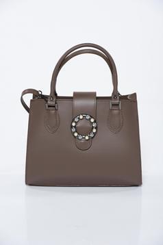 Barna irodai bőr táska
