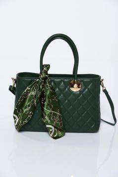 Zöld irodai bőr táska