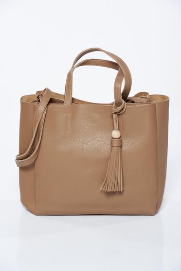 Krém műbőr irodai táska