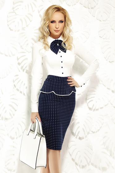 Fehér Fofy női ing irodai rugalmas pamut karcsusított szabás