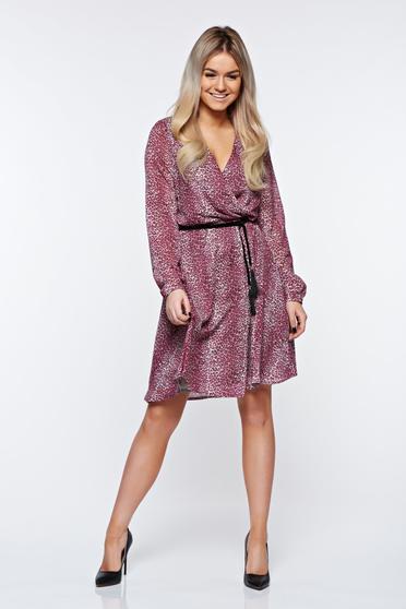Pink StarShinerS elegáns ruha belső béléssel derékban rugalmas lenge anyagból