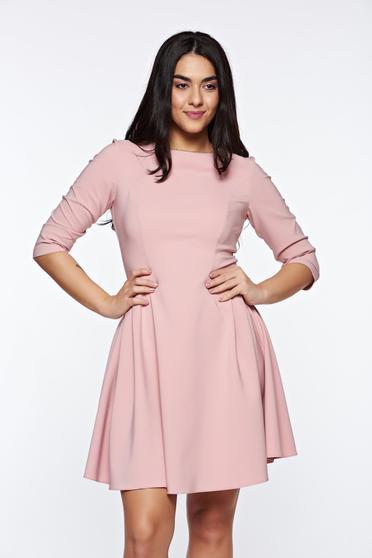 Rózsaszínű LaDonna elegáns harang ruha rugalmas anyag