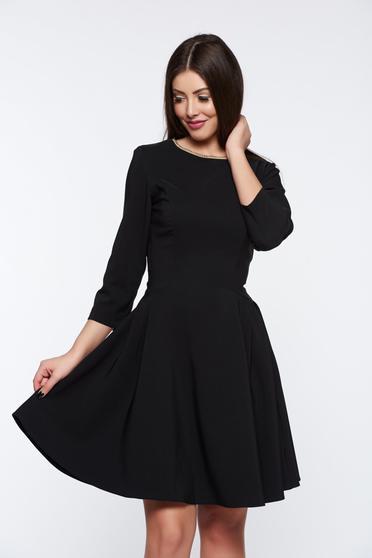 Fekete LaDonna elegáns harang ruha rugalmas anyag