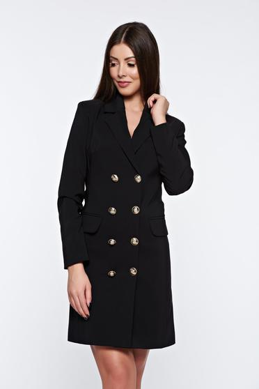 Fekete LaDonna zakó tipusú irodai ruha belső béléssel v-dekoltázzsal
