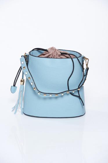 Kék táska casual műbőr