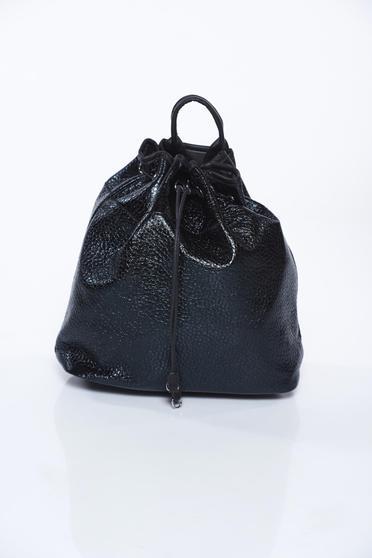 Fekete táska casual fémes jelleg műbőr