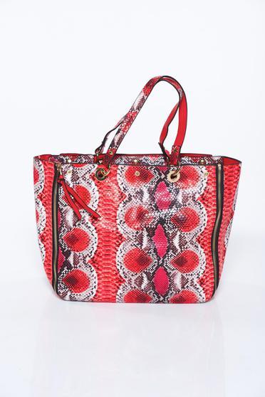 Piros táska irodai műbőr