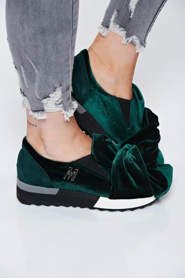 Zöld MissQ sport cipő casual bársony bőr belső rész
