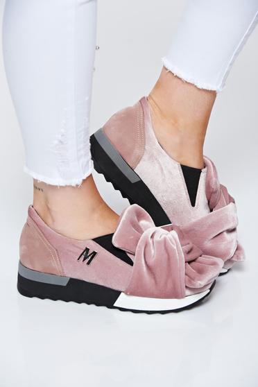 Rózsaszínű MissQ sport cipő casual bársony bőr belső rész a talp nagyon könnyű