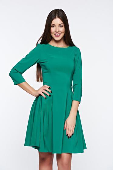 Zöld LaDonna elegáns harang ruha rugalmas anyag
