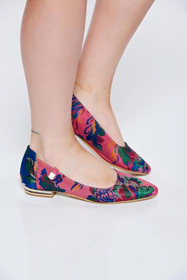 Pink MissQ balett cipő casual szatén anyagból lapos talpú