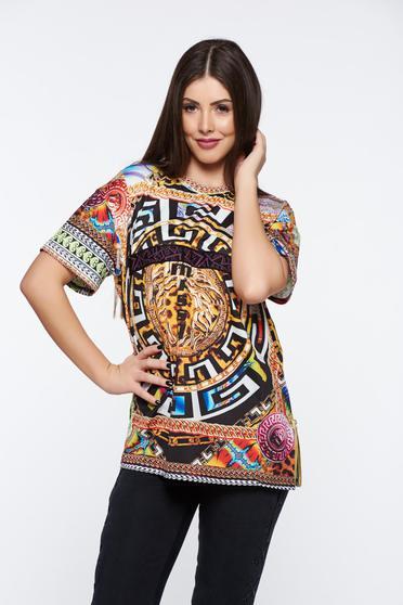 Fekete MissQ casual póló hosszú bő szabásu rugalmas és finom anyag